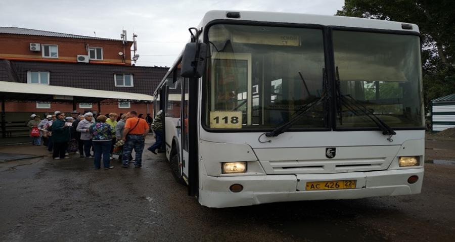 В Рубцовске открывается движение автобусов на муниципальном маршруте № 118 в садоводческие товарищества